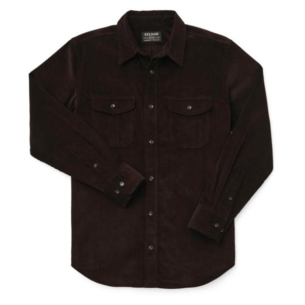 Filson 12-Wale Corduroy Shirt Bison Brown