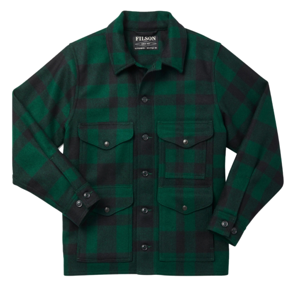 Filson Mackinaw Cruiser Jacket Green / Black