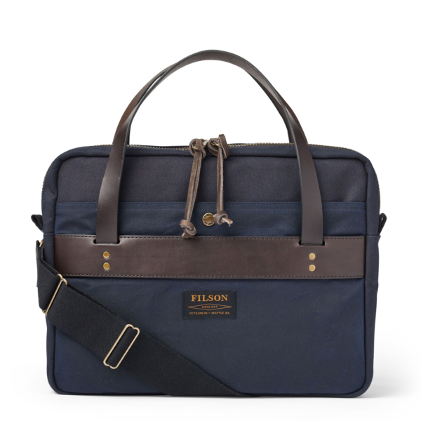 Filson Rugged Twill Compact Briefcase Navy