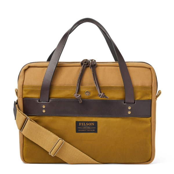 Filson Rugged Twill Compact Briefcase Tan
