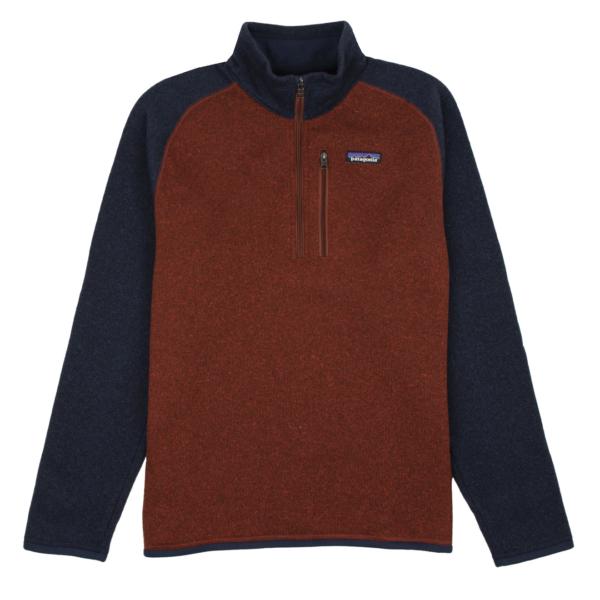 Patagonia Better Sweater 1/4 Zip Fleece Barn Red / New Navy