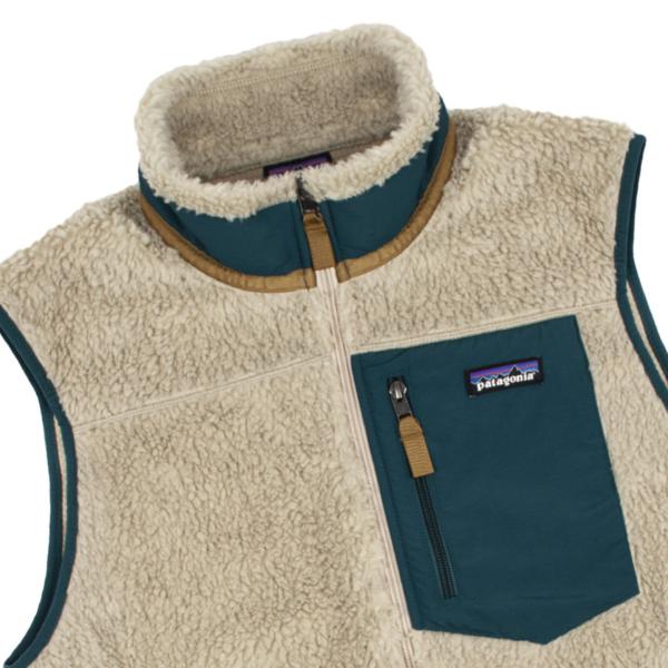 Patagonia Classic Retro-X Fleece Vest Pelican / Dark Borealis Green