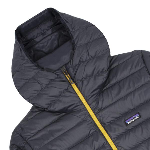 Patagonia Down Sweater Hoody Jacket Smolder Blue / Textile Green