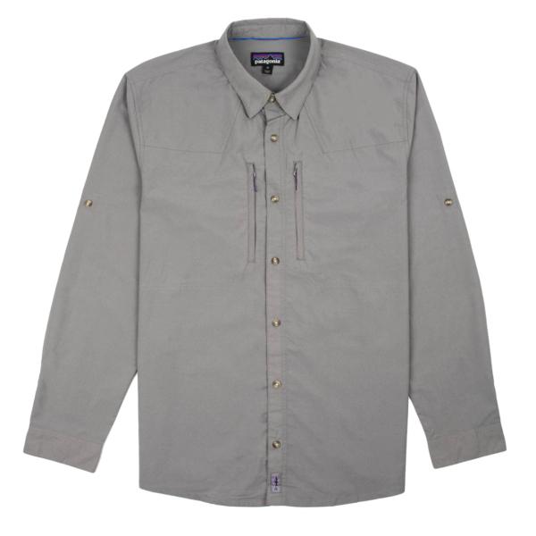 Patagonia Long Sleeved Sun Stretch Shirt Chambray Hex Grey