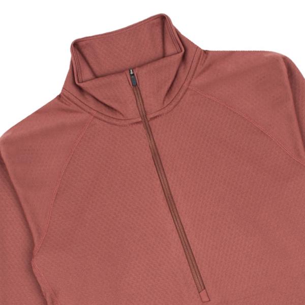Patagonia Womens Capilene Midweight Zip Neck T-Shirt Rosehip