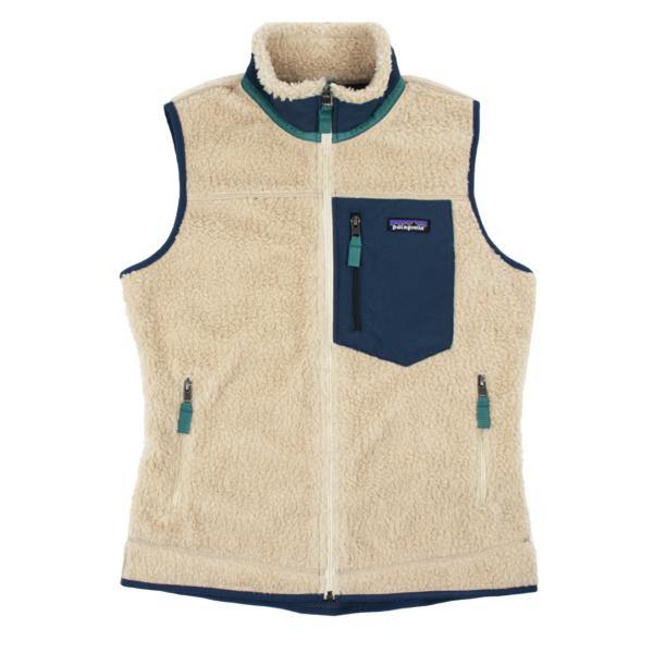 Patagonia Womens Classic Retro-X Fleece Vest Dark Natural