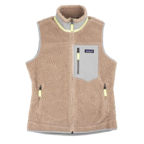 Patagonia Womens Classic Retro-X Fleece Vest Shroom Taupe