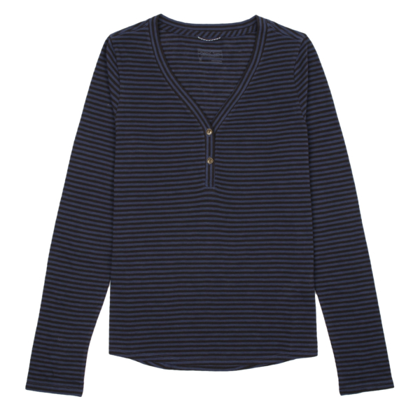Patagonia Womens Mainstay Henley Bumble Bee / New Navy