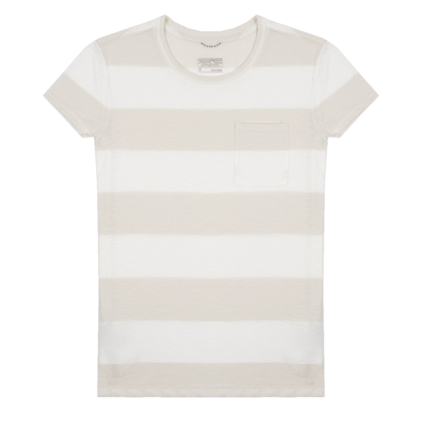 Patagonia Womens Mainstay T-Shirt Anchor Stripe / Birch White