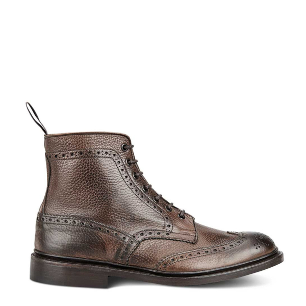 Trickers Stow Country Boot Dark Brown Muflone