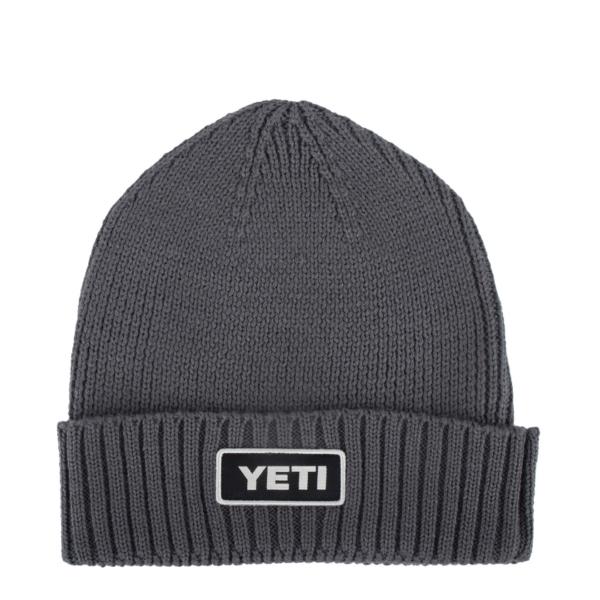 YETI Logo Beanie Hat Grey