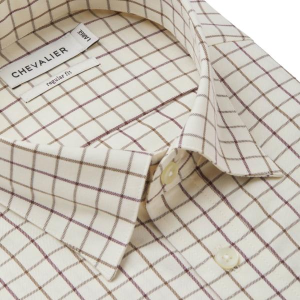Chevalier Billet Shirt Hazelnut Tattersall