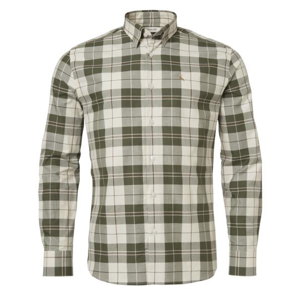 Chevalier Hinwick Shirt Deep Green Checked