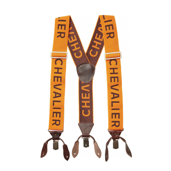Chevalier Logo Suspenders High Vis Orange