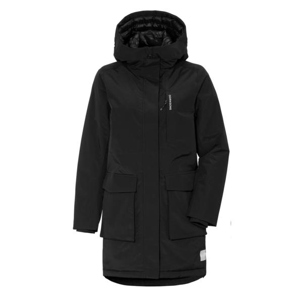 Didriksons Womens Leya Parka Jacket Black