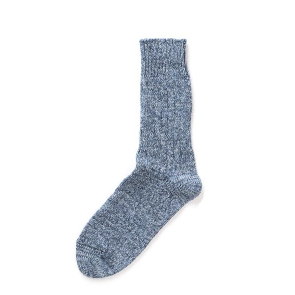 RoToTo Denim Tone Crew Socks Ice Denim