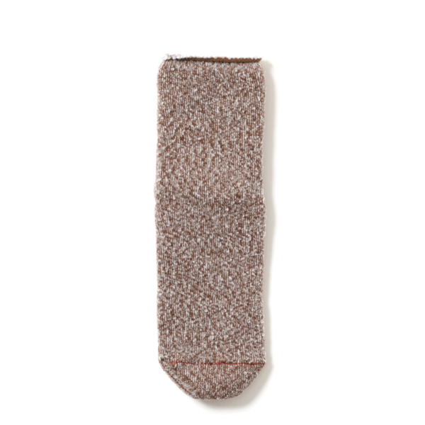 RoToTo Double Face Room Socks Thermo Fleece Brown