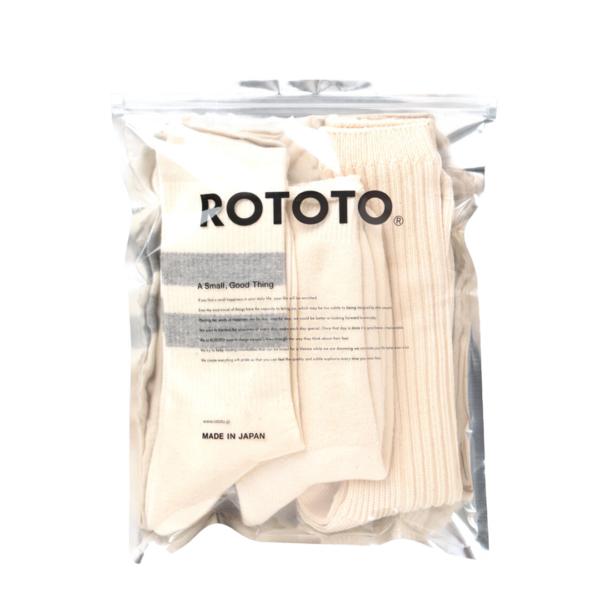 RoToTo Organic Cotton Special Trio Ecru