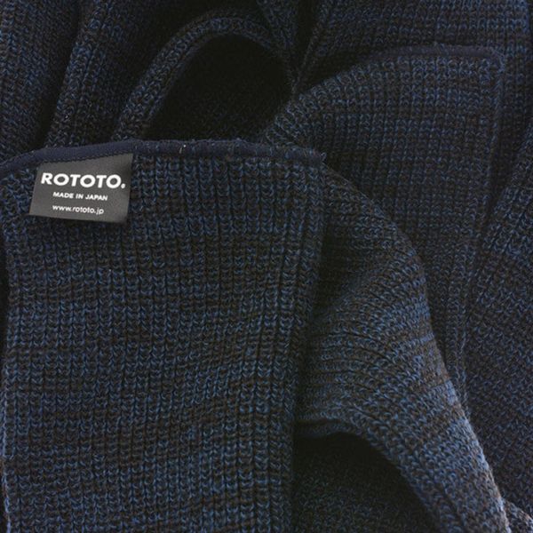 RoToTo Stole Scarf Charcoal / Blue