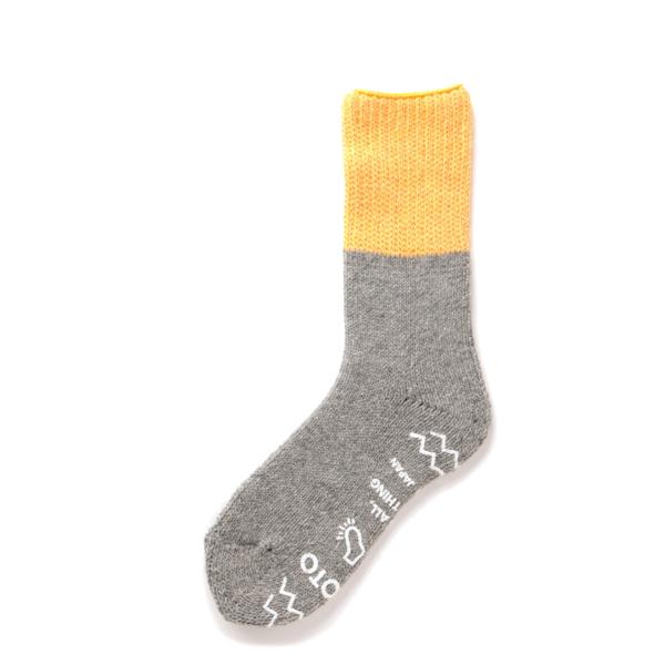 RoToTo Teasel Socks Yellow / Light Gray